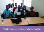 Kenyatta University and the Agence Universitaire de la Francophonie(Agency of Francophonie Universities)2