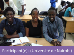 Kenyatta University and the Agence Universitaire de la Francophonie(Agency of Francophonie Universities)4